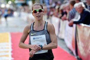 Charlotta Fougberg är nu fjärde snabbaste svenska på 10 km i Lidingöloppets historia. Foto: Deca Text&Bild