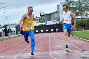 I mitten av augusti vann Felix Svensson JNM-guld på 200 m på Island. Foto: Deca Text&Bild