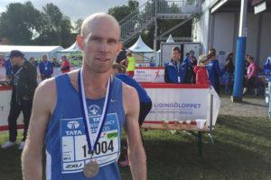 Tredjeplats i debuten på 15 km för Olle Walleräng. Foto: Jonas Hedman
