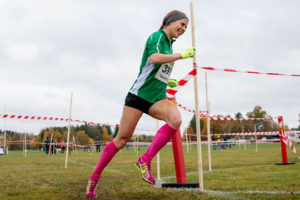 Ledning från start till mål för Charlotta Fougberg på 8 km i Västerås. Foto: Deca Text&Bild