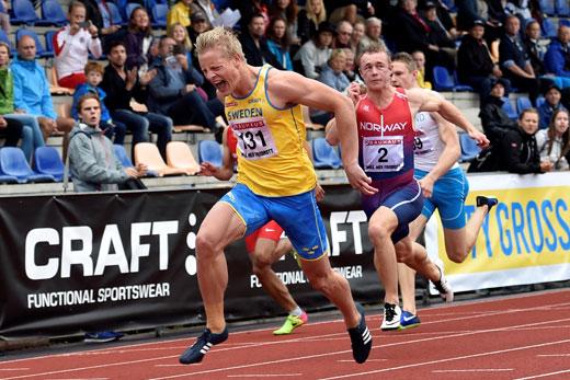 De tolv snabbaste loppen pa 100 meter